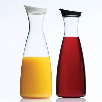 Acrylic Carafe Juice Jar 36oz With Black Top
