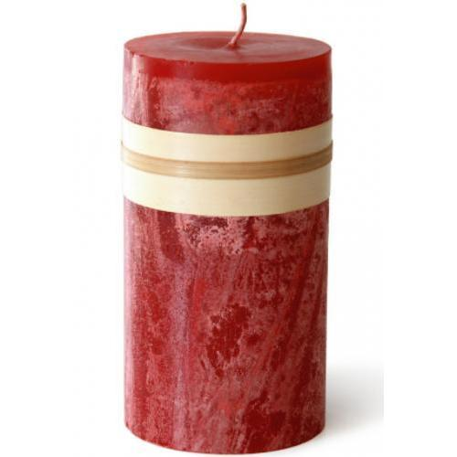 2 X 4in Pillar Candle - Cranberry Red