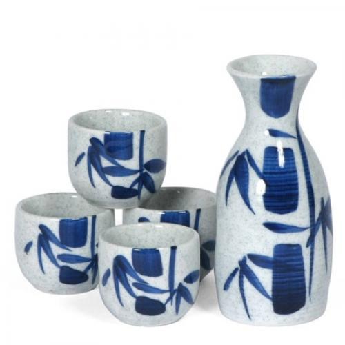 Sake Set 5oz. Blue Bamboo