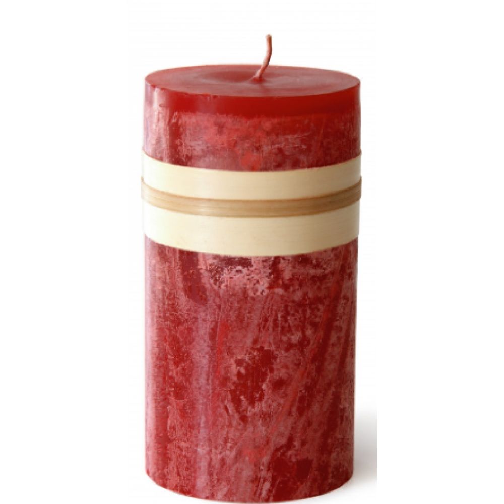 3.25 X 3in Pillar Candle - Cranberry Red