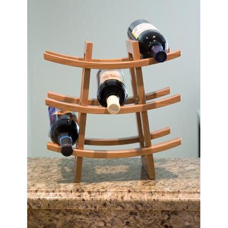 Wine Bottle Rack Bamboo 9 Bottle