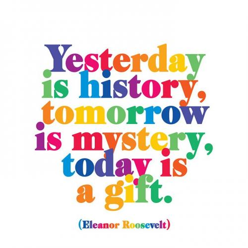 Any Occasion - Yesterday Is History, Tomorrow\'s A Mystery, Today Is A Gift - Eleanor Roosevelt