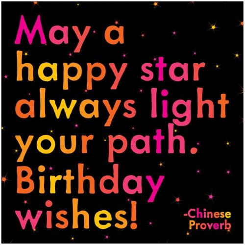 Birthday - May A Happy Star Always Light Your Path. Birthdat Wishes!