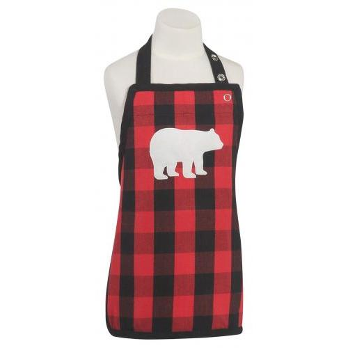 Apron Child Size Buffalo Check Bear