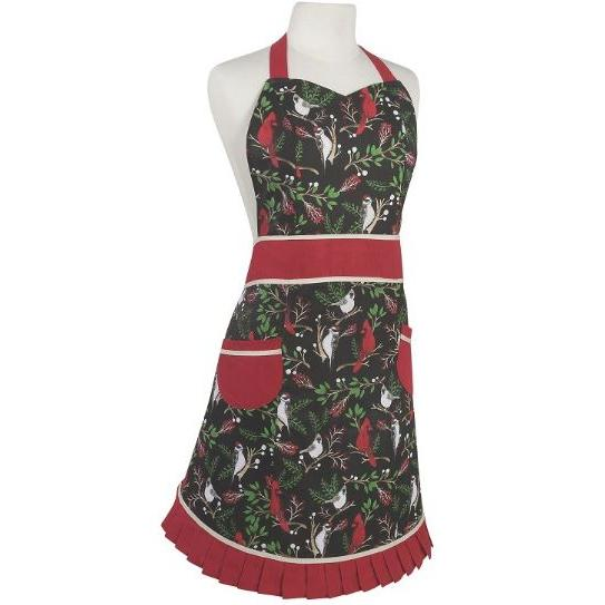 Seasonal Holiday Apron Betty Winter Birds