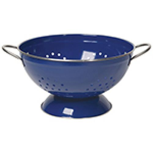 Colander Strainer Metal 3qt Blue-navy