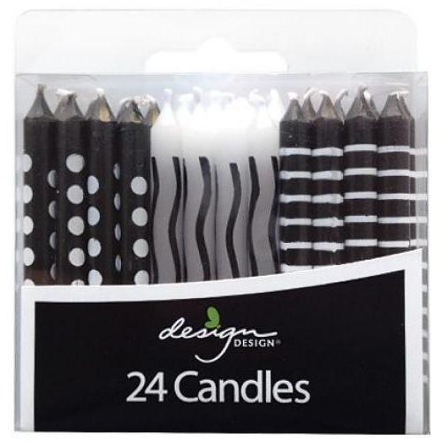 Birthday Candles - Black & White Patterns