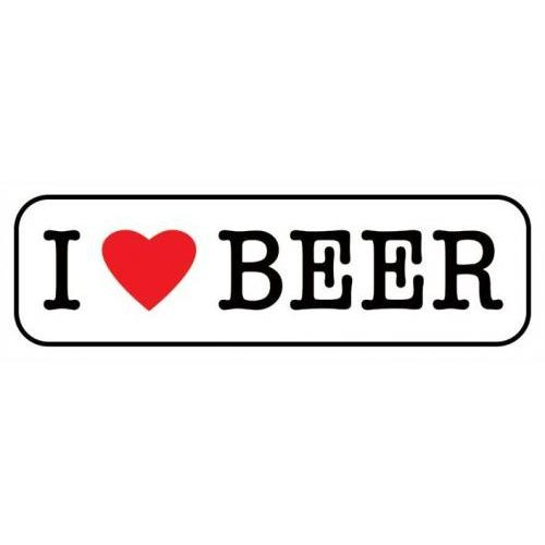 I Love Beer Poster 12inx36in