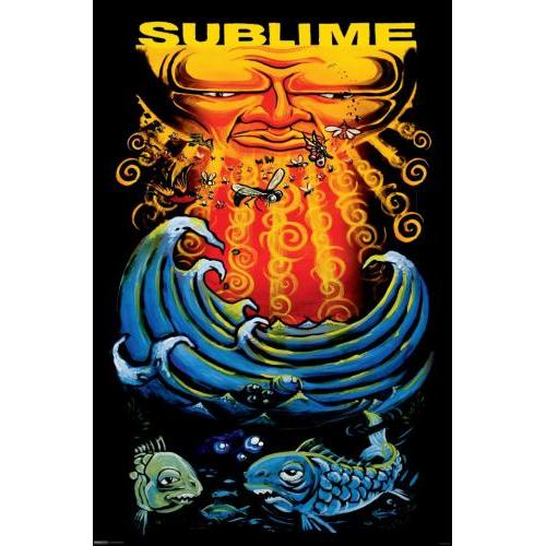 24inx36in Sublime Sun & Fish Poster