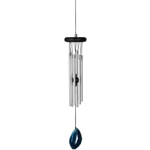 Outdoor Windchime Agate 18in Blue