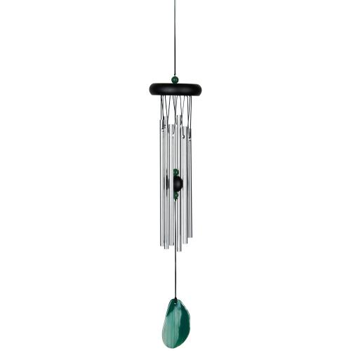 Outdoor Windchime Agate 18in Green