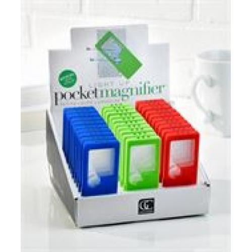Magnifier Led Pocket Sized Assorted Colors