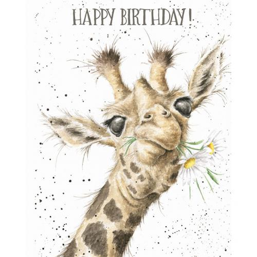 Birthday - Birthday Flowers Giraffe