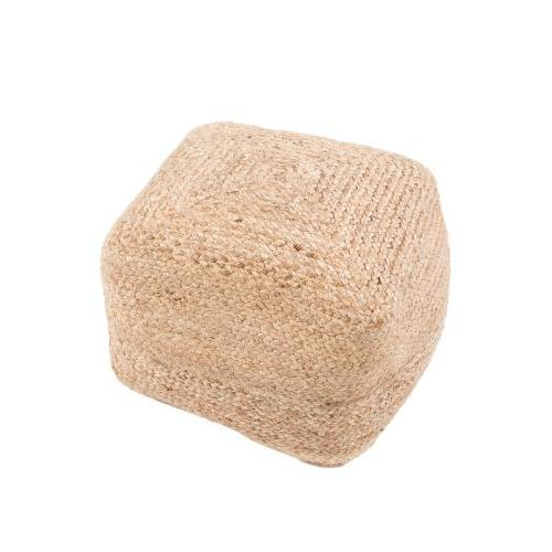 Pouf Sangam Warm Sand 18inx 18in X 12in High
