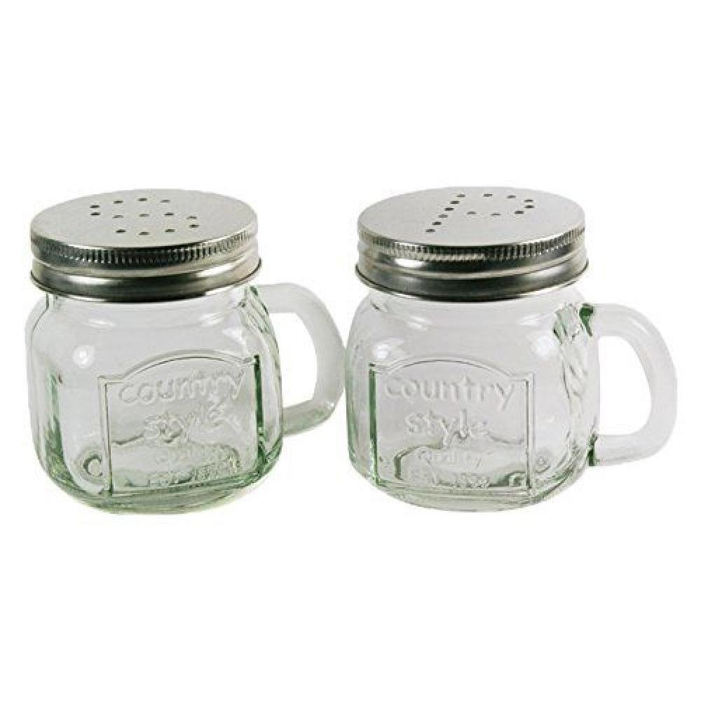Salt & Pepper Shaker Glass Country Style Range Top 7oz set of 12 (3.99ea)
