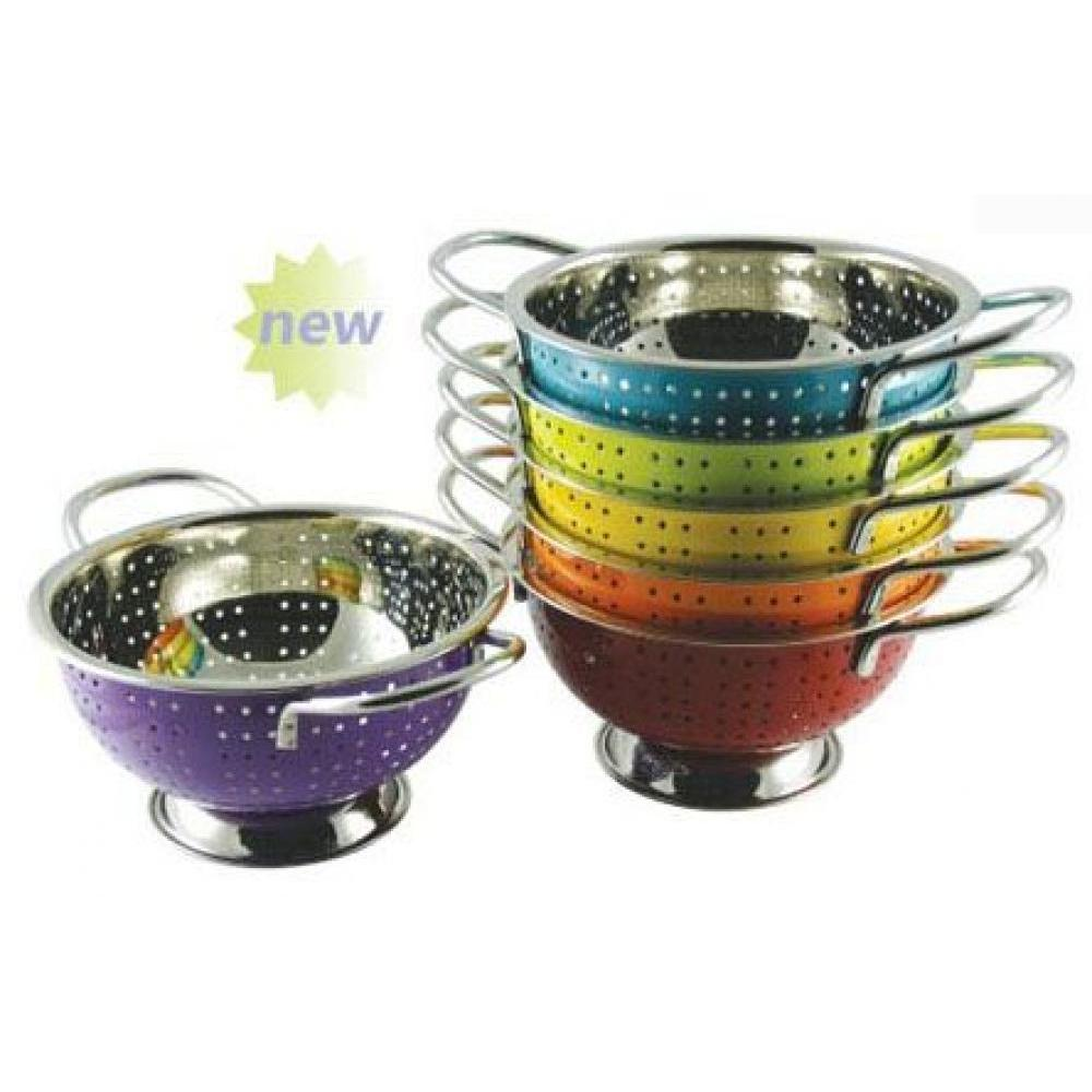 Colander Strainer Ceramic Berries Mini 6in Asst Colors Set of 6 (5.99ea)