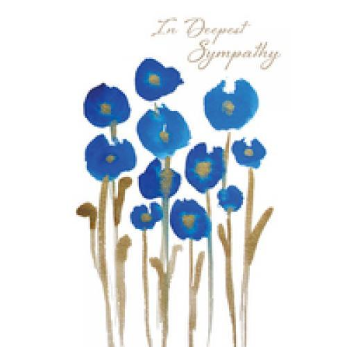 Sympathy - Blue And Gold Flowers