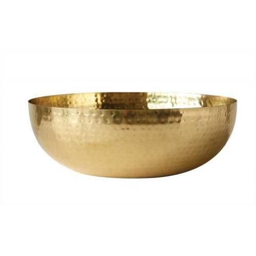 Bowl Metal With Brass Finish 14in