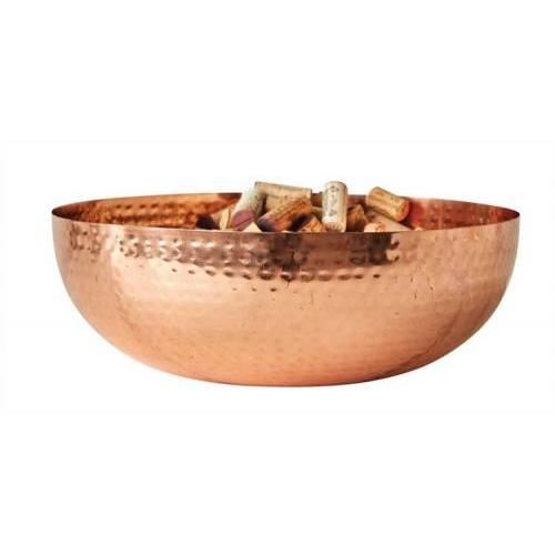 Bowl Metal With Copper Finish 14in