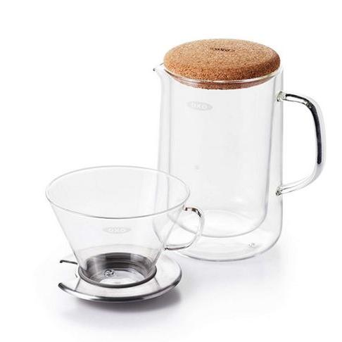 Coffee Maker Pour Over Set With Glass Carafe