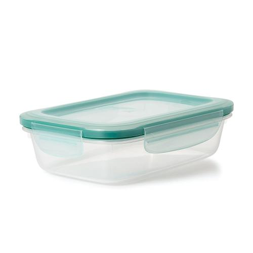 Food Storage Container Plastic Snap-seal Rectangle 5.1cup