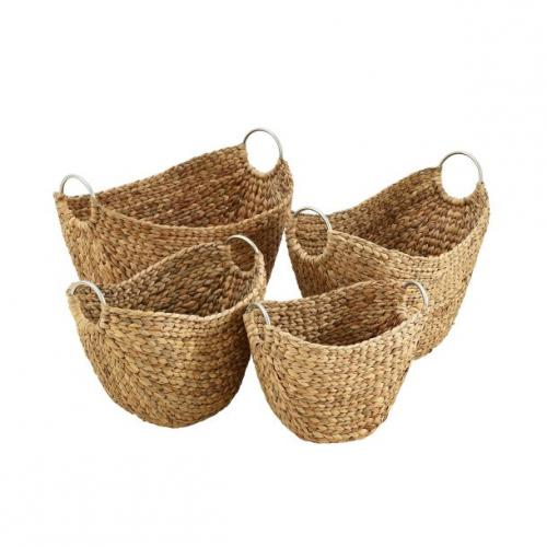 Basket Wicker And Metal Set Of 4 Sm-14.99 Md-24.99 Lg-29.99 Xl-39.99