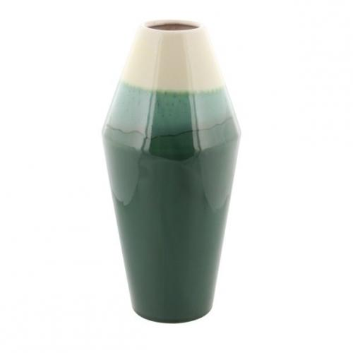 Vase Green Ceramic 6in W X 12in H