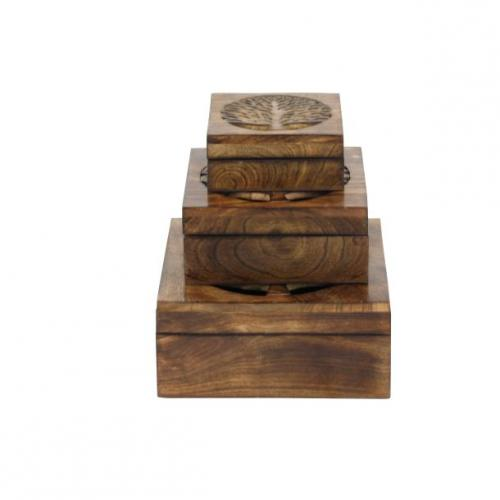 Box Wooden Tree Set Of 3 Lg-21.99 M-16.99 Sm-12.99