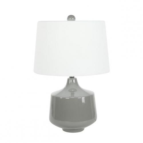 Table Lamp Grey Ceramic 24in High