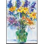 Vermont Artist - Larkspur And Lily