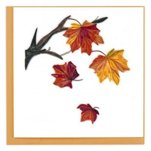 Any Occasion - Quilling Card - Autumn Leaves