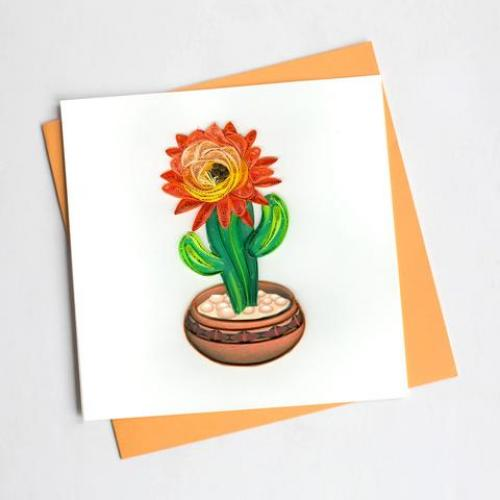 Any Occasion - Quilling Card - Cactus