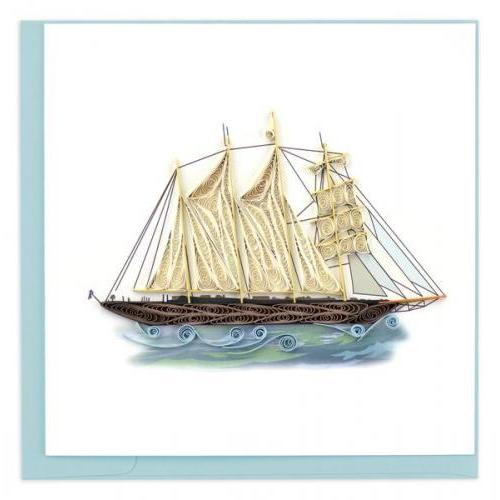 Any Occasion - Quilling Card - Schooner Ship
