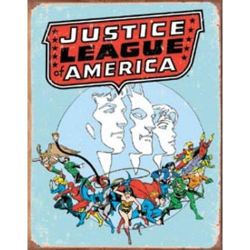 Tin Sign - Justic League America Retro