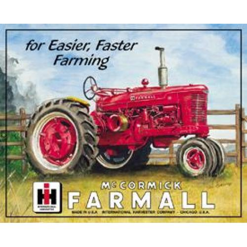 Tin Sign - Farmall Tractor