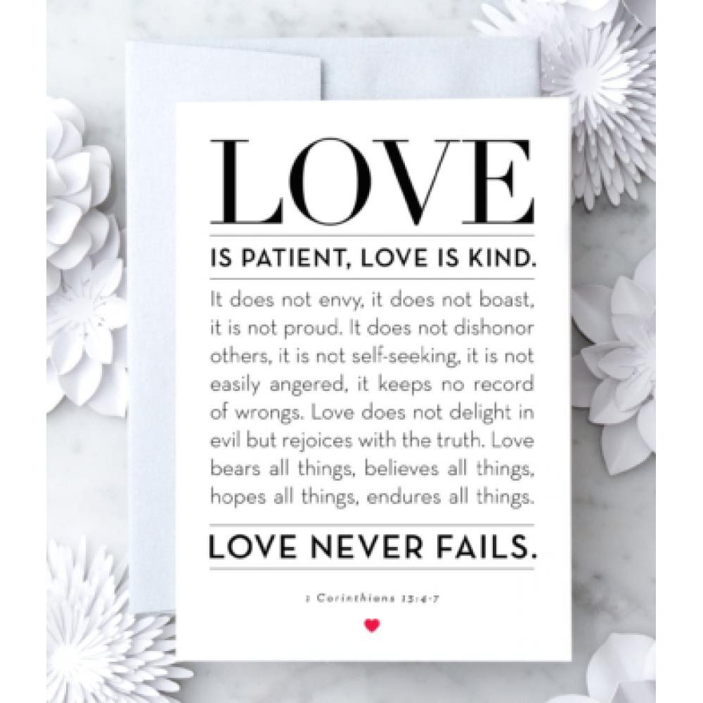 Love - Love Is Patient And Kind