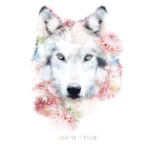 Birthday - Wildlife Botanical Wolf