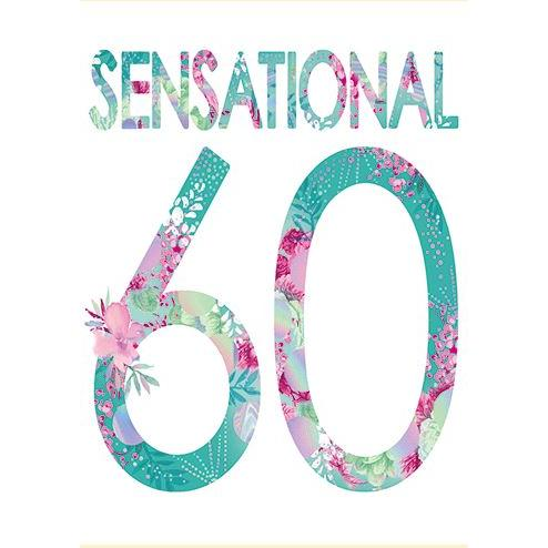 Birthday  - Age - 60th Sensational