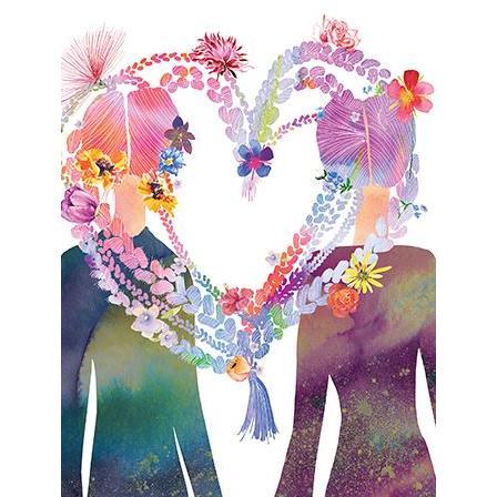 Love - Purple Heart Two Girls