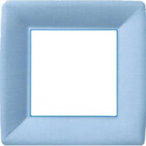 Paper Plate 10in Classic Linen Square Plate Light Blue