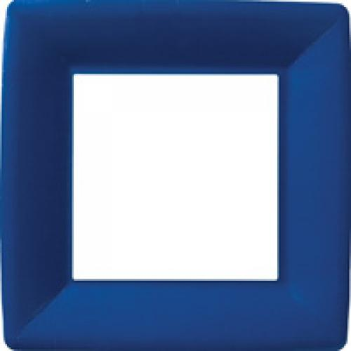 Paper Plate 10in Classic Linen Square Plate Dark Blue