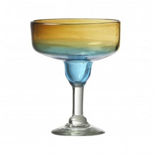 Drinkware Glass Monterey Blue-orange Goblet 15oz Margarita
