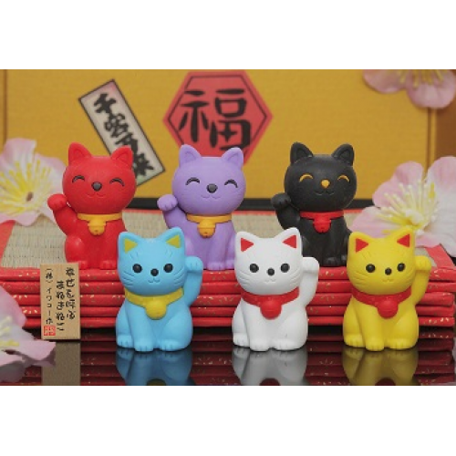Eraser Maneki Cat Asst.