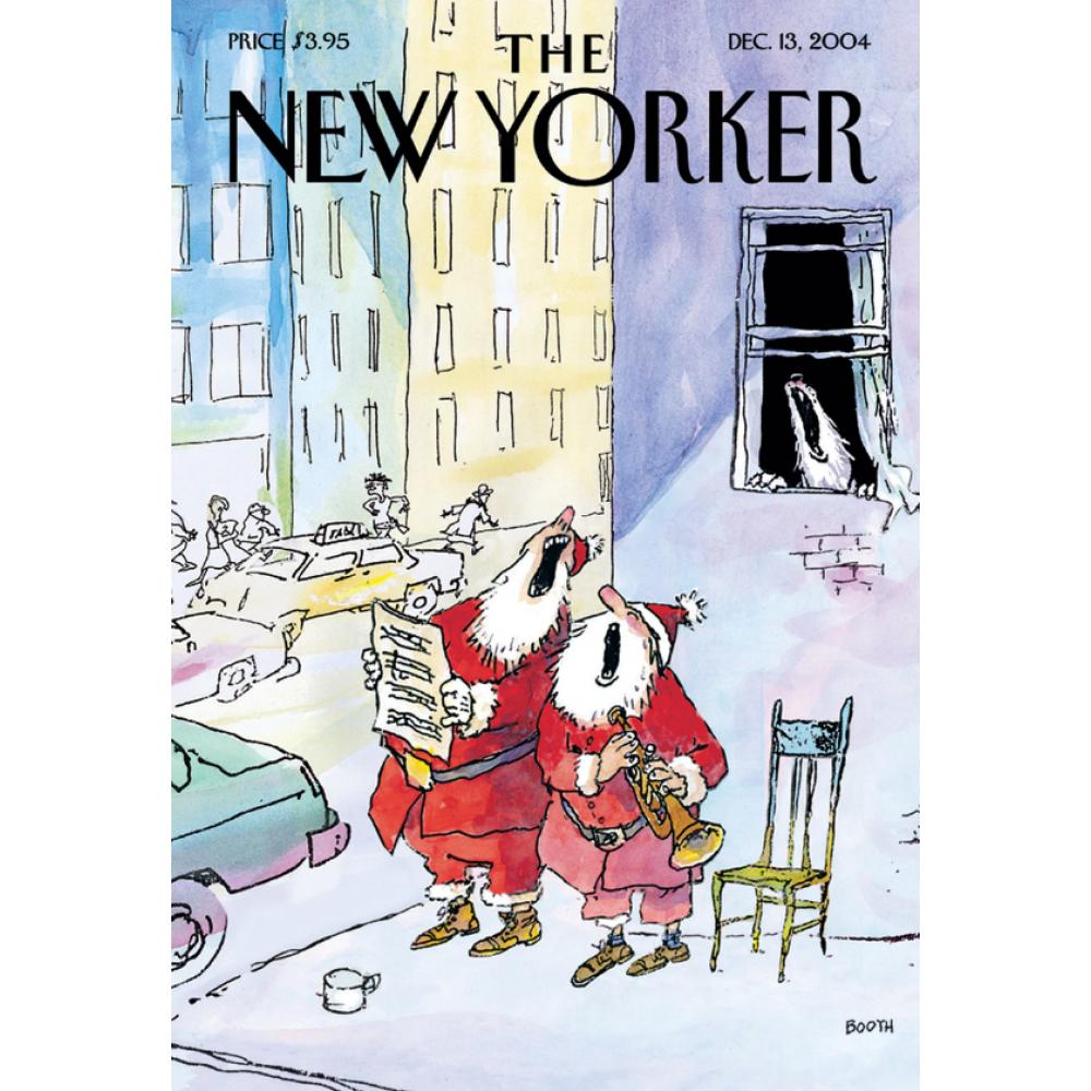Christmas Card - New Yorker - Singing Santas