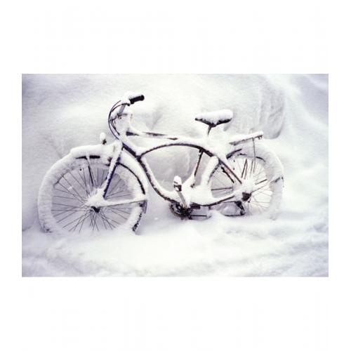 Boxed Card - Bike In Snow