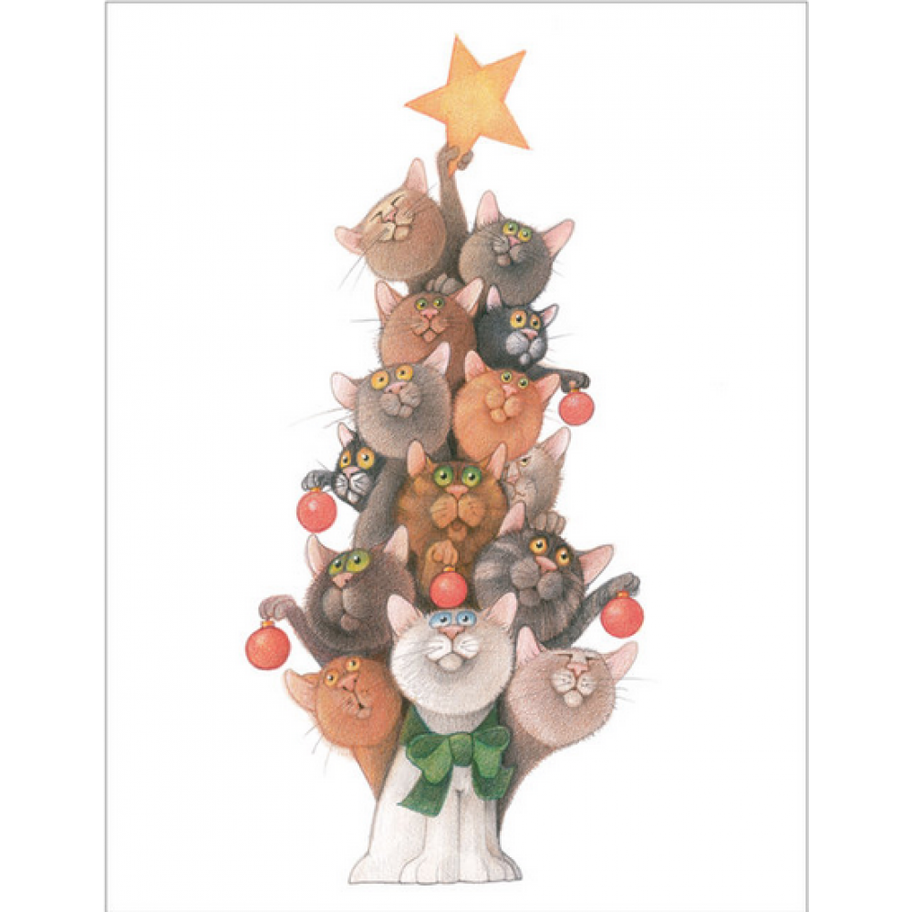 Christmas - Tree O\' Cats