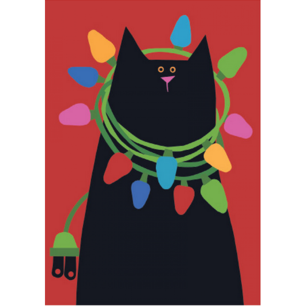 Christmas - Cat With Lights