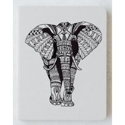 Sketchbook Leather - Ornate Elephant - Blank