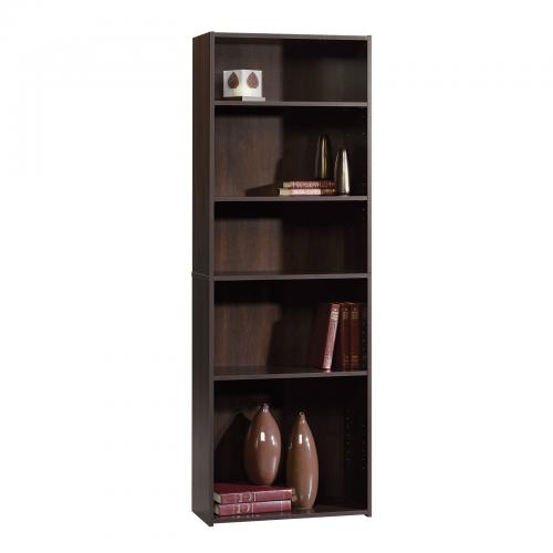Beginnings Bookcase Cinnamon Cherry Finish Five Shelf