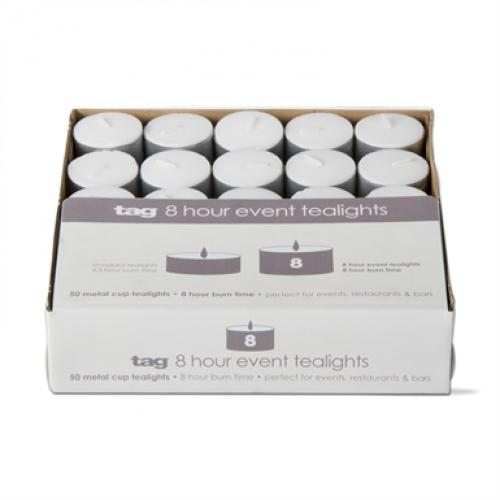 Tealight Candles 8 Hour Box Of 50